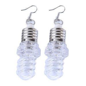 Light Up Earrings Light Bulbs