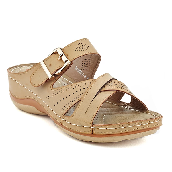 Casual Slip-On Wedge Sandals