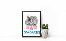 Load image into Gallery viewer, Congrats! A5-A3 Fine Art Print SEAL Illustration