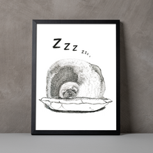 Load image into Gallery viewer, Chonky Seal A5-A3 Digital Fine Art Print SEAL Illustration