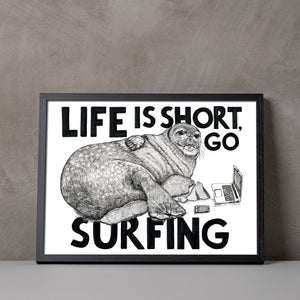 Go Surfing A5-A3 Fine Art digiprint