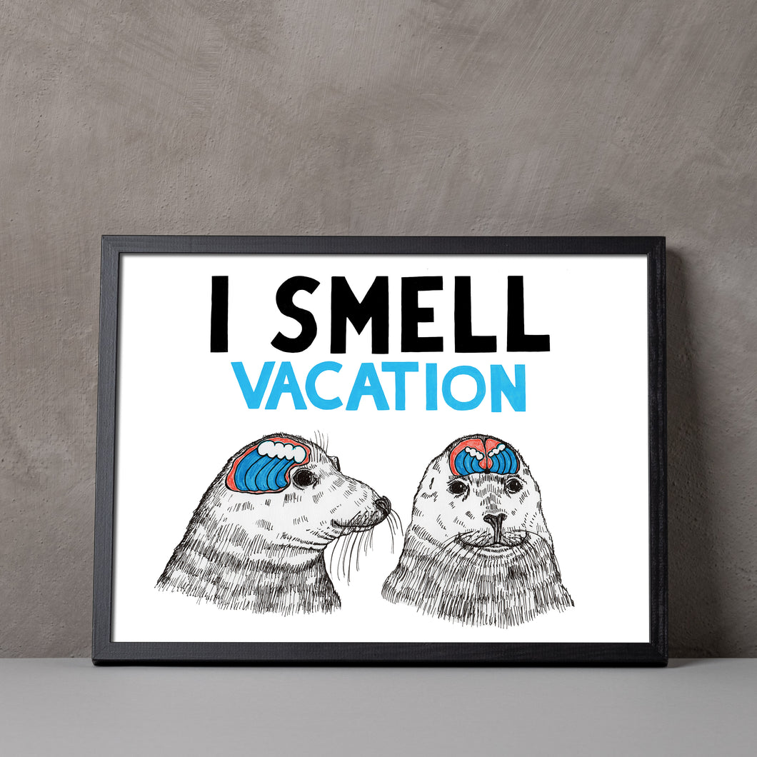 I Smell Vacation A5-A2 Digital Fine Art Print SEAL Illustration