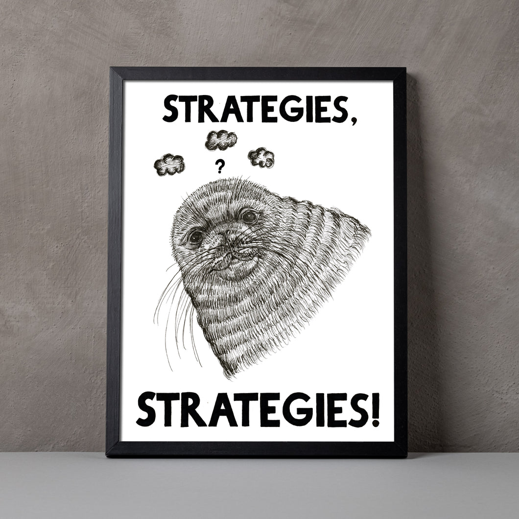 Strategies, Strategies A5-A2 Digital Fine Art Print SEAL Illustration