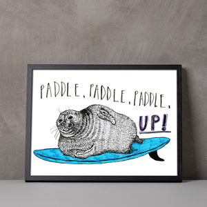 Paddle, paddle, up! A5-A2 Fine Art digiprint
