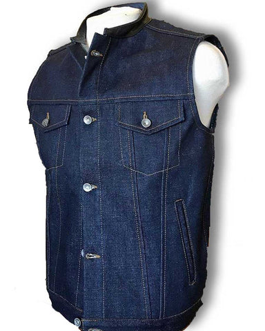 selvage denim vest