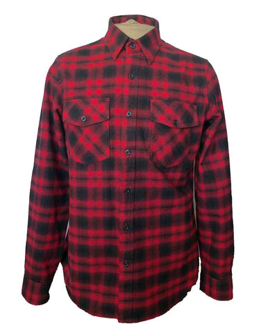 Men's Buffalo flannel shirt (front view)