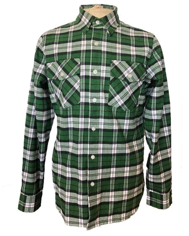 Mens Green Antimicrobial flannel