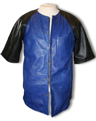 Royal blue leather jersey