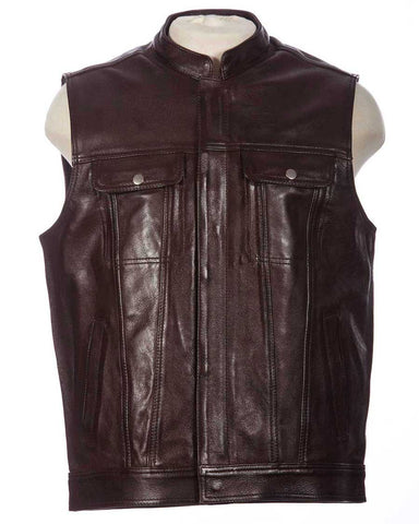 brown club vest