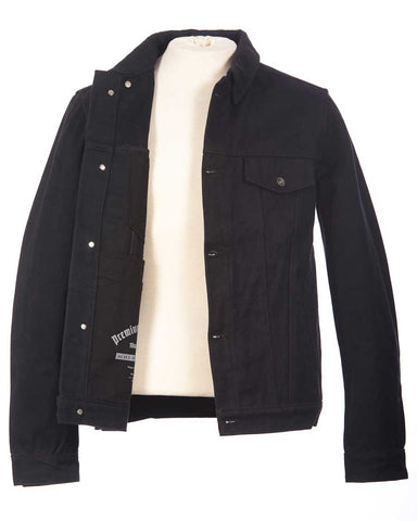 Heavy Black denim jacket mens