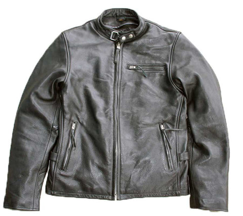 Leather Cafe Jacket (front view)