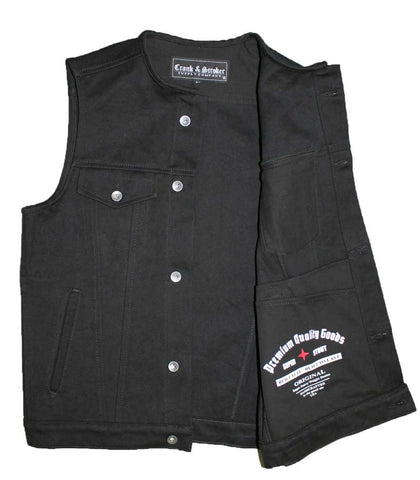 Club denim vest front