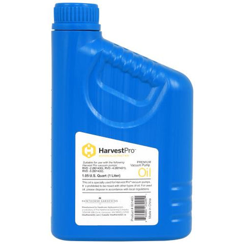 Harvest Pro Pump Oil For 801430, 801432 - 1 Liter (12/Cs)