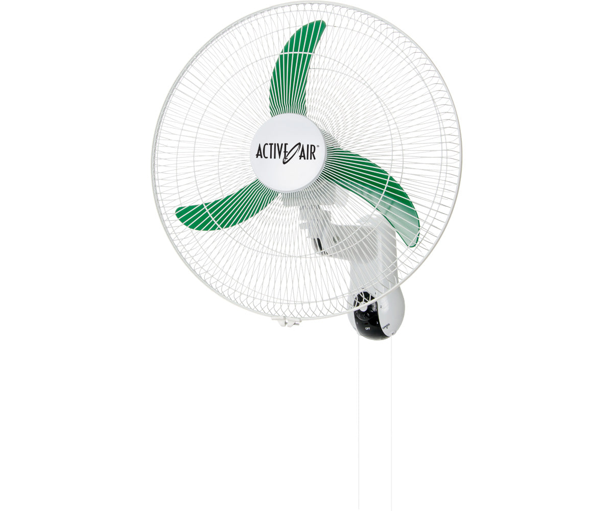 "Active Air 18"" Oscillating Wall Mount Fan"