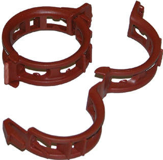 Mega Twine Clips, 25 mm, Terracotta, 100 pack