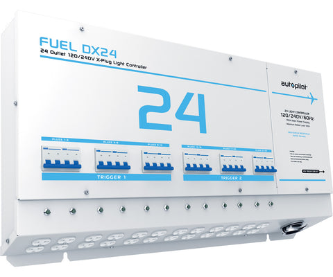 FUEL DX24 Light Controller, 24 Outlet, X-Plugs, 120/240V, with Dual Triggers