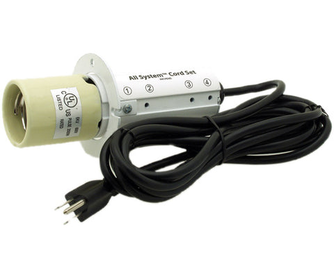 All System Cord Set w/15' 120V Power Cord for use with compact fluorescents
