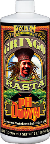 FoxFarm Gringo Rasta® pH Down Liquid, 1 qt