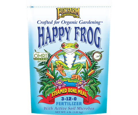Happy Frog Steamed Bone Meal Dry Fertilizer 4 lb bag