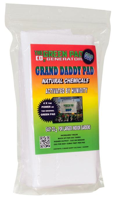 Green Pad Grand Daddy Pad CO2 Generator, pack of 2 pads w/1 hanger