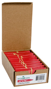 "Plant Stake Labels Red 4""x5/8"" 1000/CS"