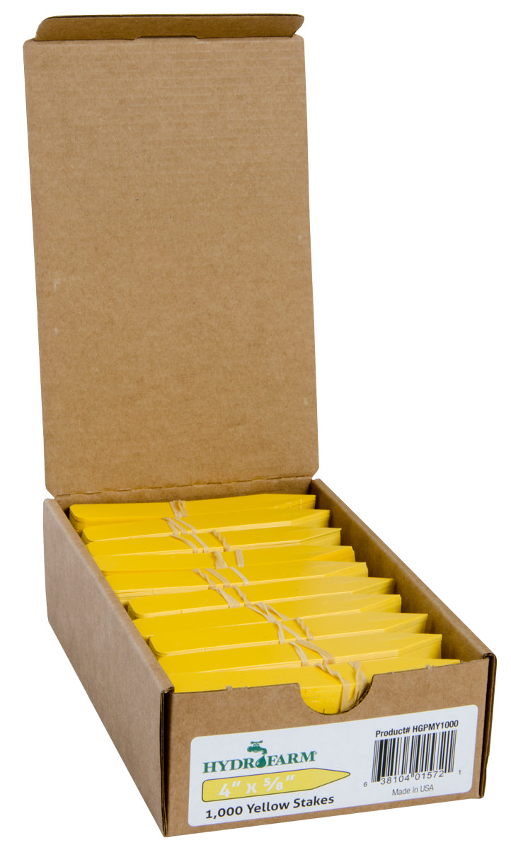"Plant Stake Labels Yellow 4""x5/8"" 1000/CS"