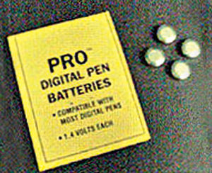 Batteries for PRO pH/TDS pen or Thirsty Light, 1.4V (pack of 4 batteries)