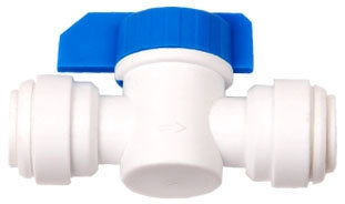 "3/8"" QC x 3/8"" QC inline shut off valve"