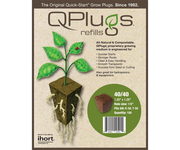 IHORT QPLUG Cubes, bag of 100