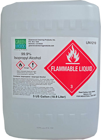 Isopropyl Alcohol, 99.9%, 5 gal pail