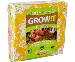 GROW!T Coco Coir Gro Bag, 1 cu ft