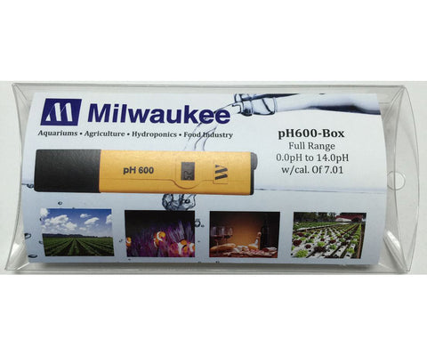 Milwaukee Instruments pH 600 pH Tester w/1 Point Manual Calibration