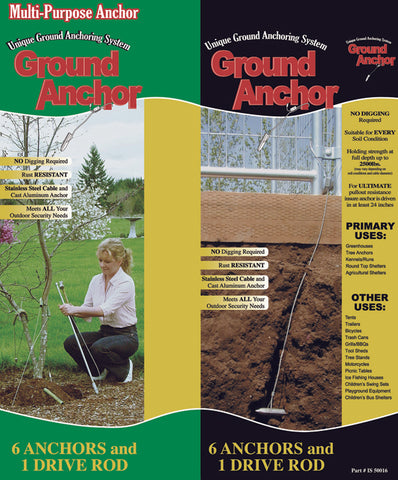 Saturday Solution 6 Piece Ground Anchor Kit