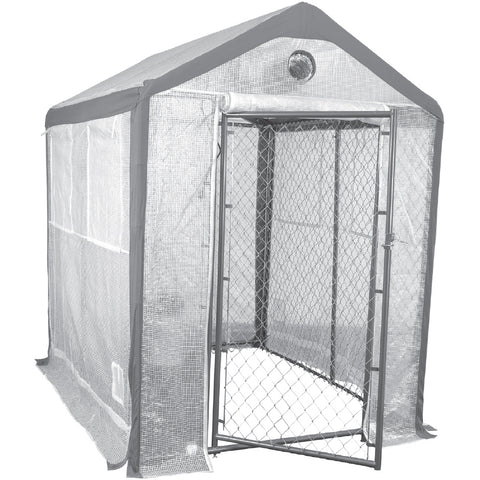 Saturday Solution Secure Grow Chain Link Greenhouse, 10' x 8'