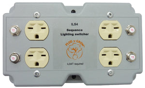 ILS4 4 Lights/Load Switcher, 240V In, 240V Out, 120V Trigger