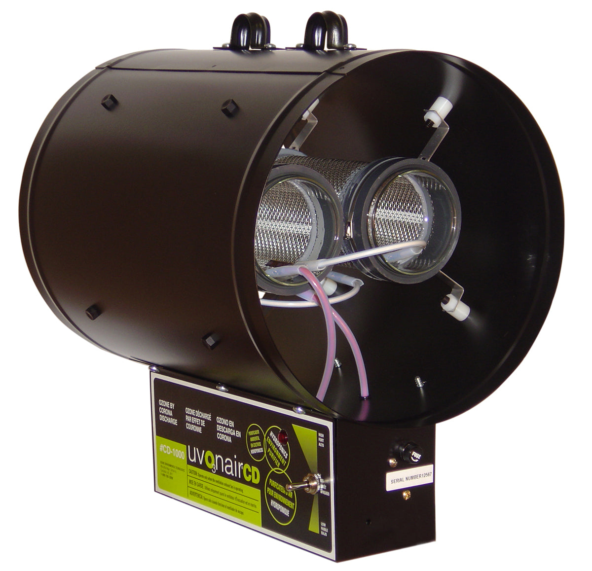 CD-In-Line Duct Ozonator Corona Discharge w/2 cells, 10""