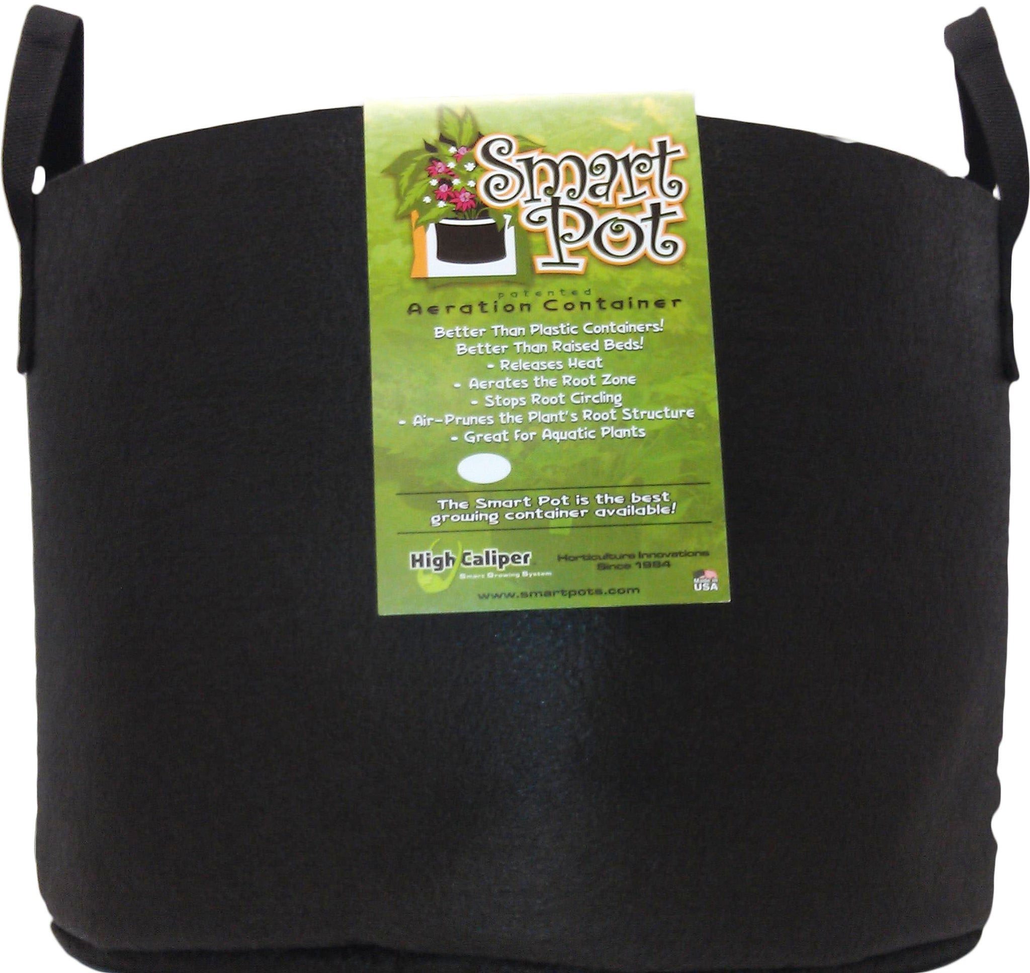 SPO Smart Pot 45 Gal Blk w/Handles