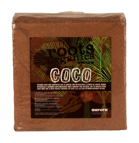 "Roots Organics Coco Fiber, 12"" x 12"" Compressed Block"