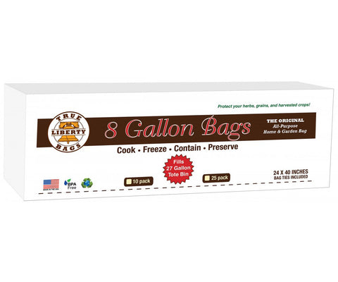 "True Liberty 8 Gallon Bag, 24"" x 40"", Pack of 10"