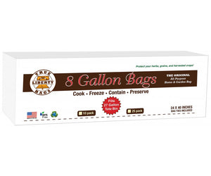 "True Liberty 8 Gallon Bag, 24"" x 40"", Pack of 25"