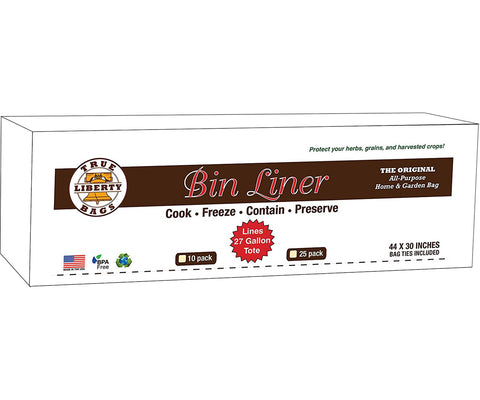 "True Liberty Bin Liners, 44"" x 30"", Pack of 25"