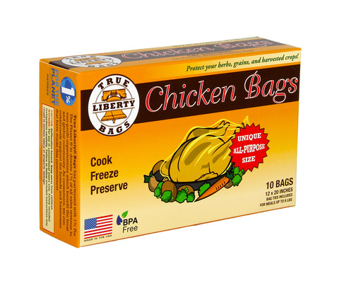 True Liberty Chicken Bags, pack of 10