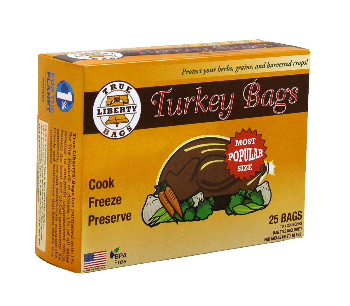 True Liberty Turkey Bags, pack of 25
