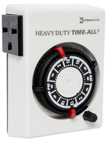Intermatic Heavy Duty Timer, 3600W, 15A, 240V, 2 On/Off, 24 Hour