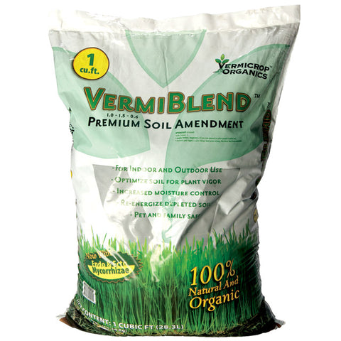 Vermicrop VermiBlend Premium Soil Amendment, 1 cu ft