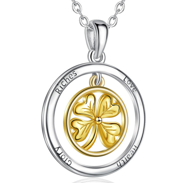 925 Sterling Silver Lucky Clover Pendant