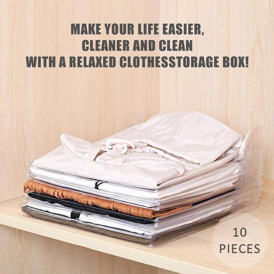 (50%OFF)Effortless Clothes Organizer (10 PCS)