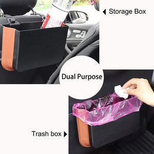 Car Hanging Folding Trash Can