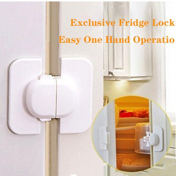Household Refrigerator Door Cabinet Lock 3PCS