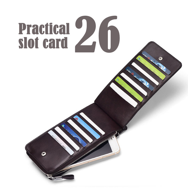 Double Zipper Multifunction Card Holder